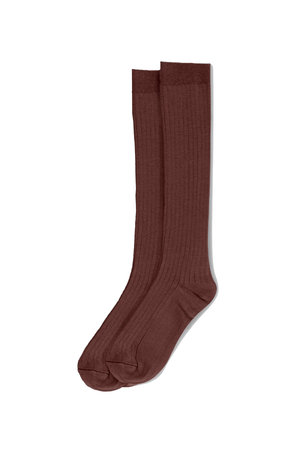 My little cozmo Rib long socks - garnet
