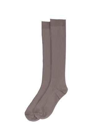 My little cozmo Rib long socks - taupe