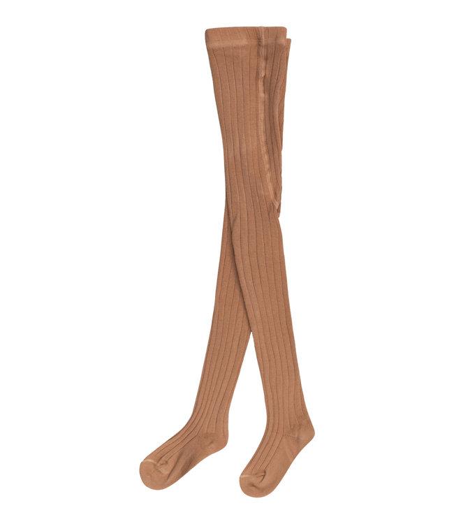 Organic baby tights - brown