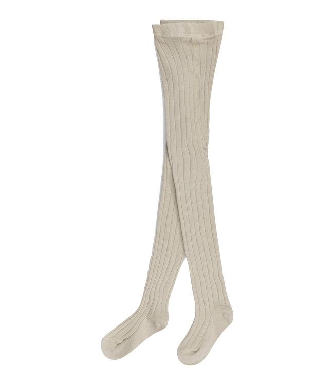 Organic baby tights - stone
