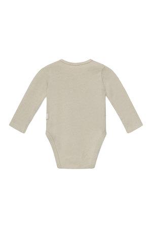My little cozmo Bobbie basic baby bodysuit recycled - stone
