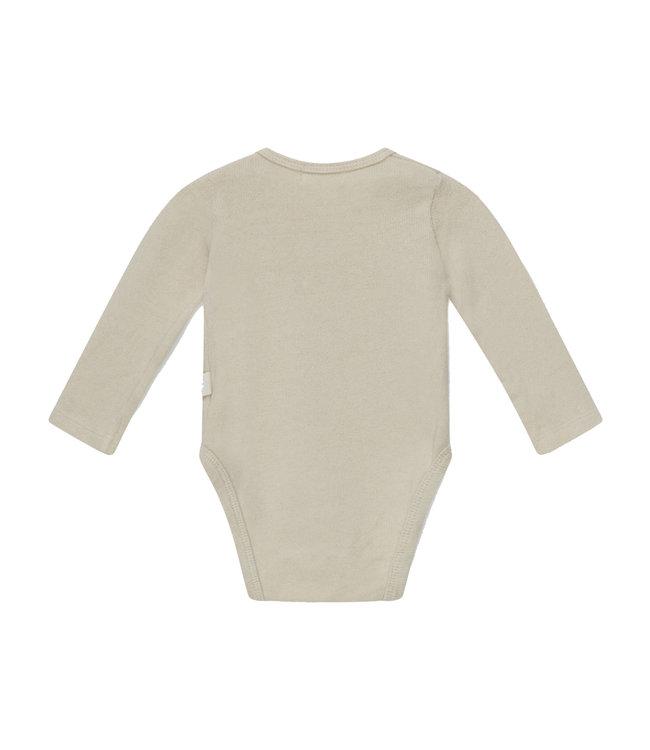 Bobbie basic baby bodysuit recycled - stone