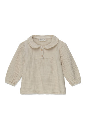 My little cozmo Maria organic baby blouse - stone