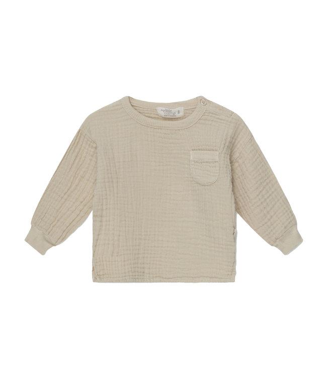 Sam organic baby T-shirt - stone