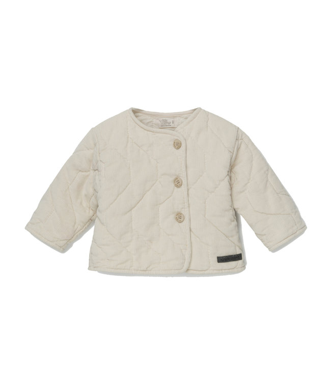 Lonan corduroy padded baby jacket - stone
