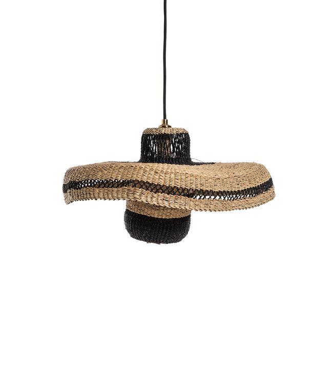 Hanglamp hatter & lantern 44cm - natural/midnight