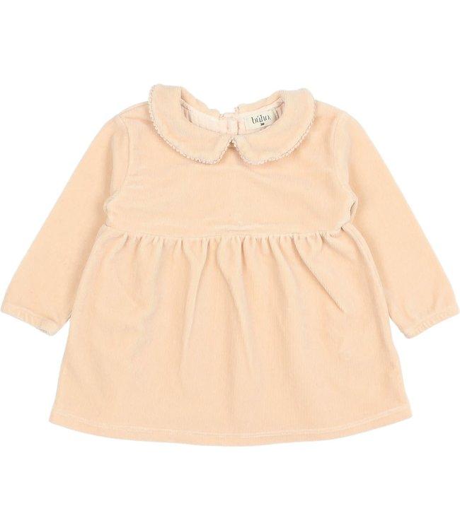 Buho Baby velvet dress - rose