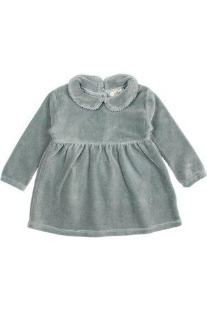 Buho Baby velvet dress - storm grey