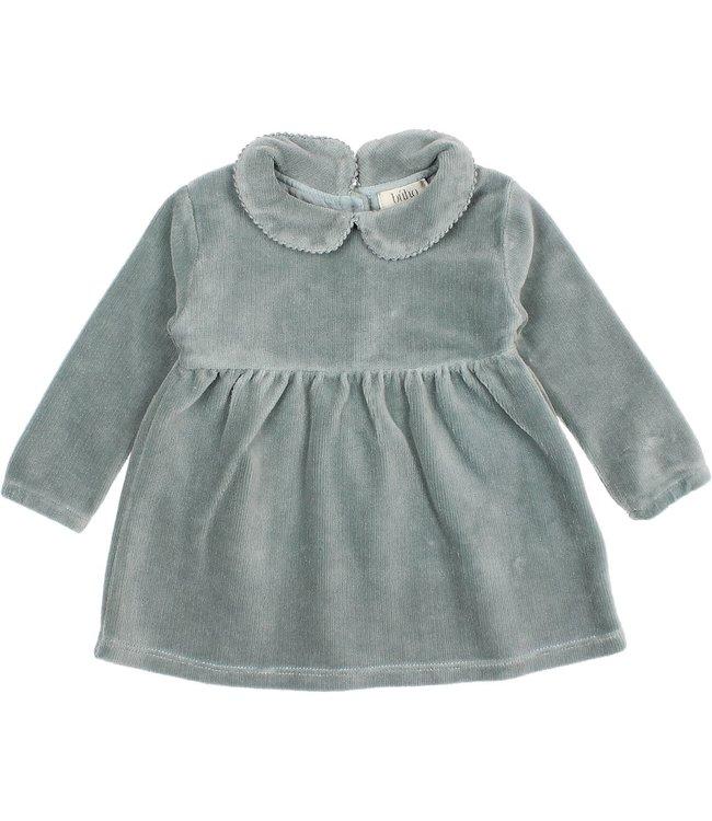 Baby velvet dress - storm grey