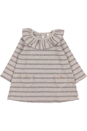 Buho Baby soft rib dress - stripes stone