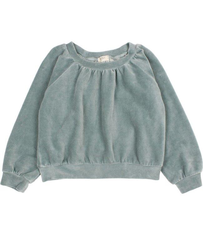 Buho Velvet sweatshirt - storm grey