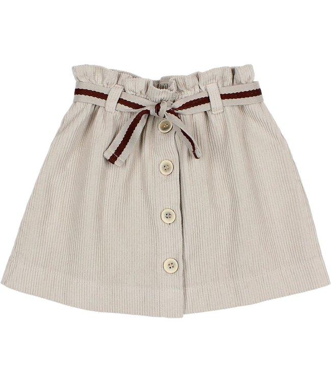 Corduroy skirt - stone