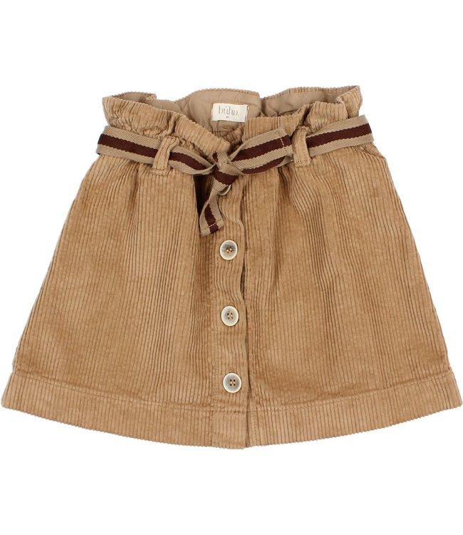Corduroy skirt - muscade