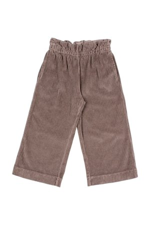 Buho Knit velour culotte pants - taupe