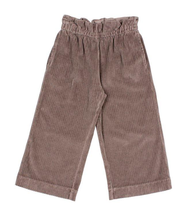 Knit velour culotte pants - taupe