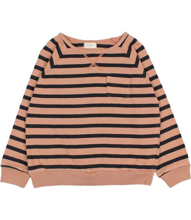 Buho Navy stripes sweatshirt - hazel