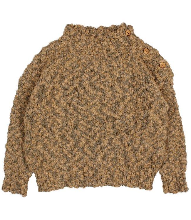 Buho Knit buttons jumper - muscade