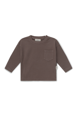 My little cozmo Organic baby basic t-shirt - taupe