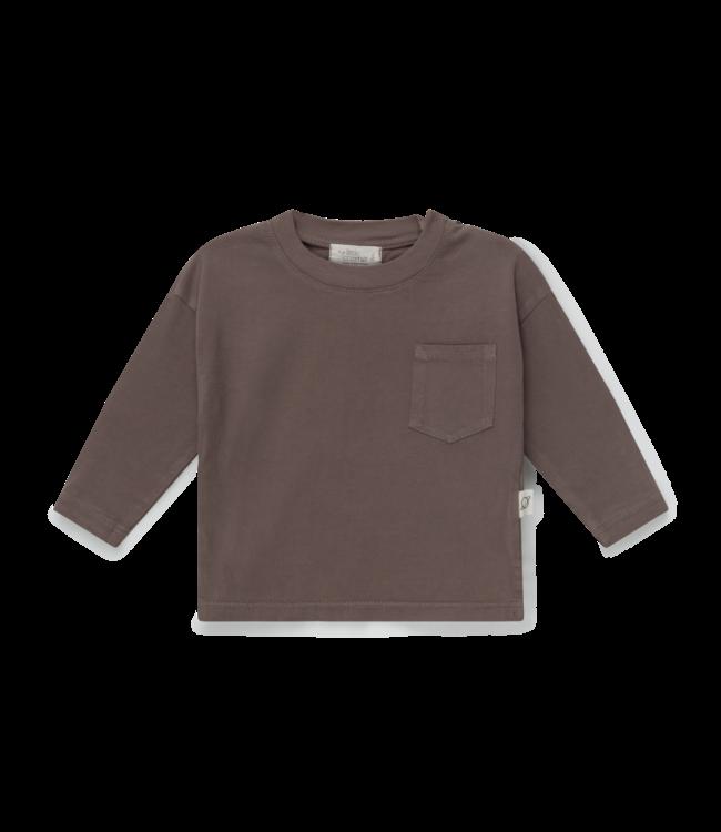 Organic baby basic t-shirt - taupe