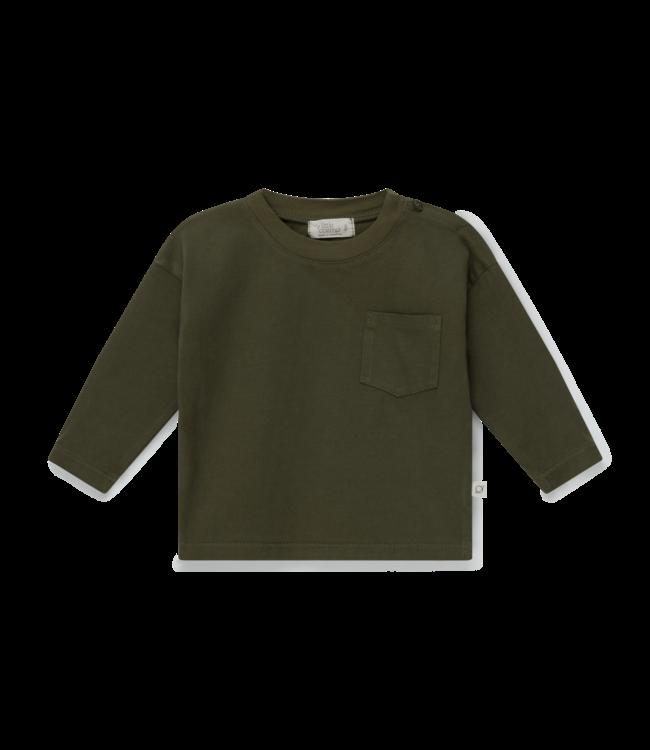 Organic baby basic t-shirt - khaki