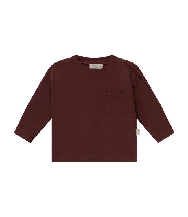 Organic baby basic t-shirt - garnet