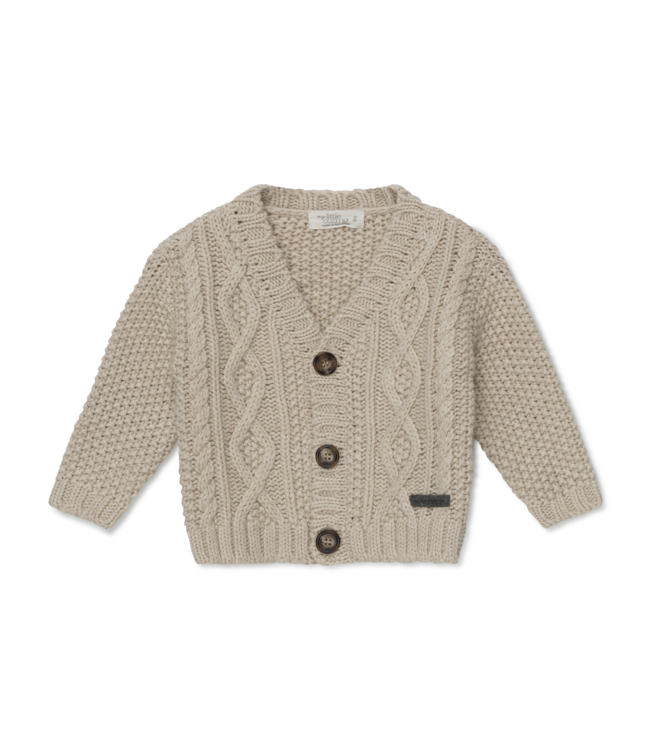 Betty baby cable knit cardigan - ivory