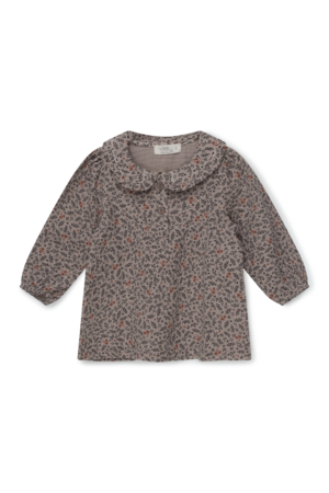 My little cozmo Cecilia organic baby print gauze  blouse - taupe