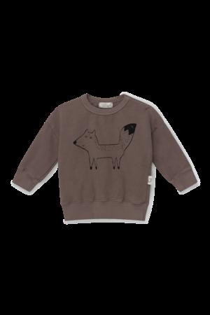 My little cozmo Fox organic baby sweatshirt fox - taupe