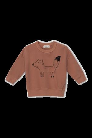 My little cozmo Fox organic baby sweatshirt fox - brown