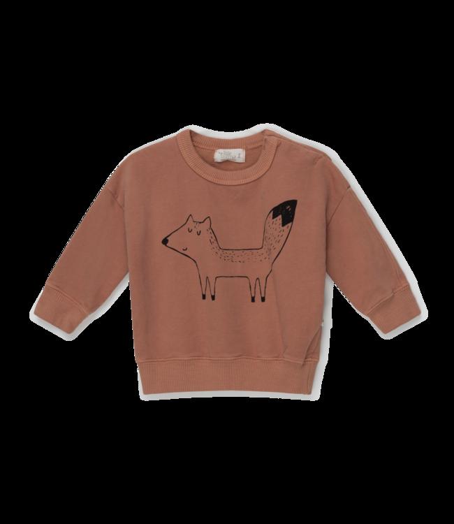 Fox organic baby sweatshirt fox - brown
