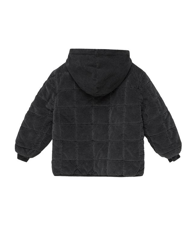 Silas corduroy kids padded jacket - dark grey
