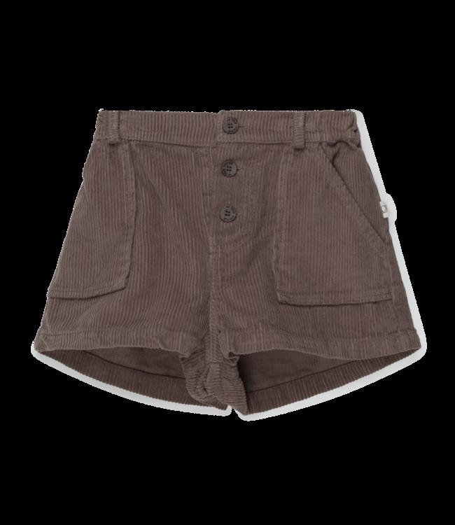 Silvia organic corduroy kids shorts - taupe