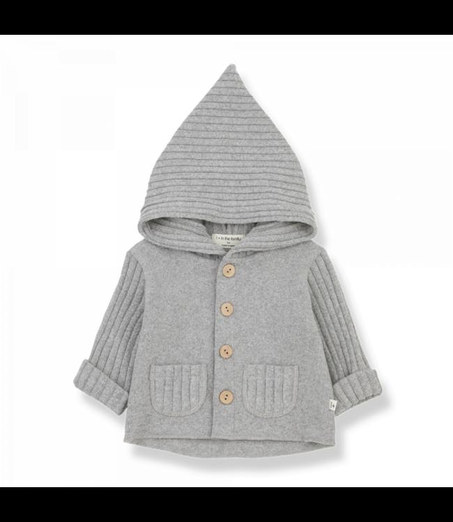 Elliot newborn hood jacket grey