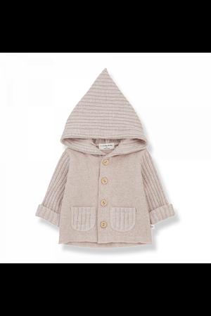 1+inthefamily Elliot newborn hood jacket nude