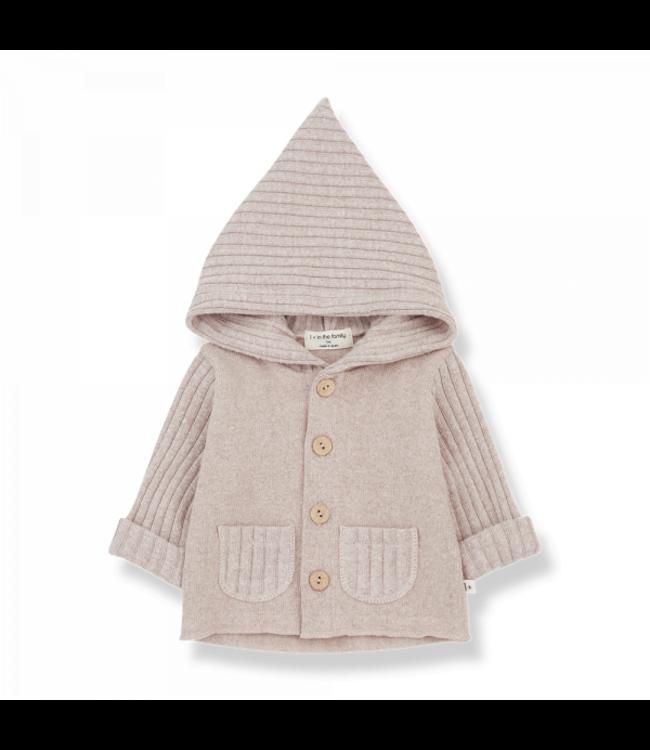 Elliot newborn hood jacket nude