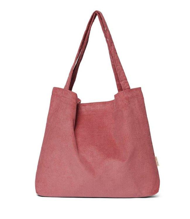 Smoky rose rib mom-bag
