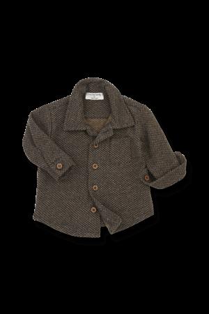 1+inthefamily Beneth shirt - charcoal