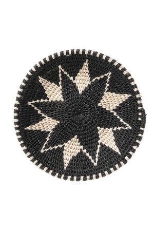 Sisal basket Zienzele black/white Ø15 cm #534