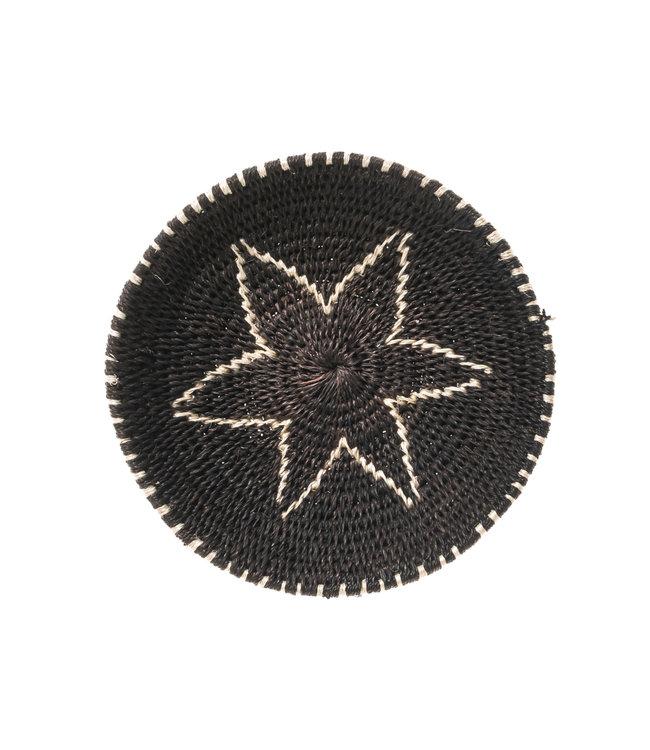 Sisal mand Zienzele zwart/wit Ø15 cm #535