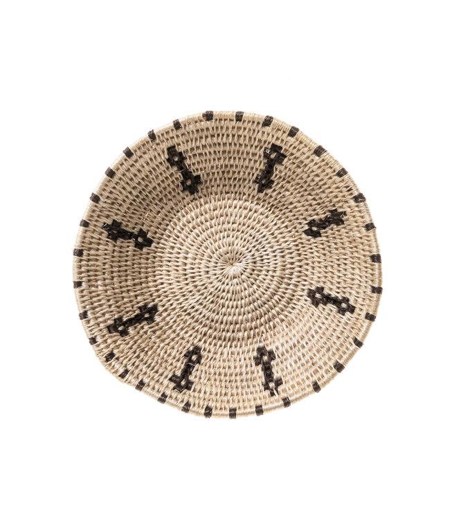 Sisal mand Zienzele zwart/wit Ø15 cm #536