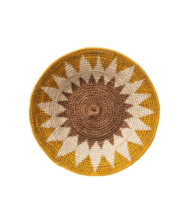 Sisal basket Zienzele earth colors Ø20 cm #538