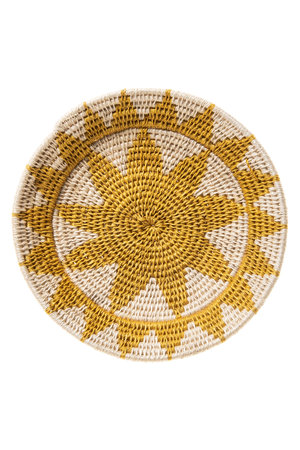 Sisal basket Zienzele earth colors Ø20 cm #543
