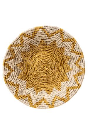 Sisal basket Zienzele earth colors Ø20 cm #545