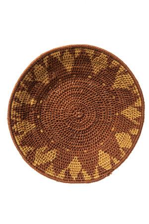 Sisal basket Zienzele earth colors Ø20 cm #546