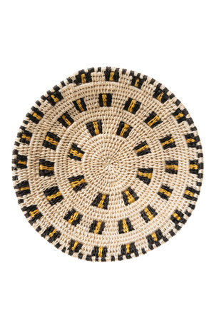 Sisal basket Zienzele earth colors Ø20 cm #547