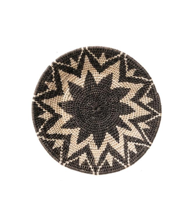 Sisal basket Zienzele black/white Ø20 cm #561