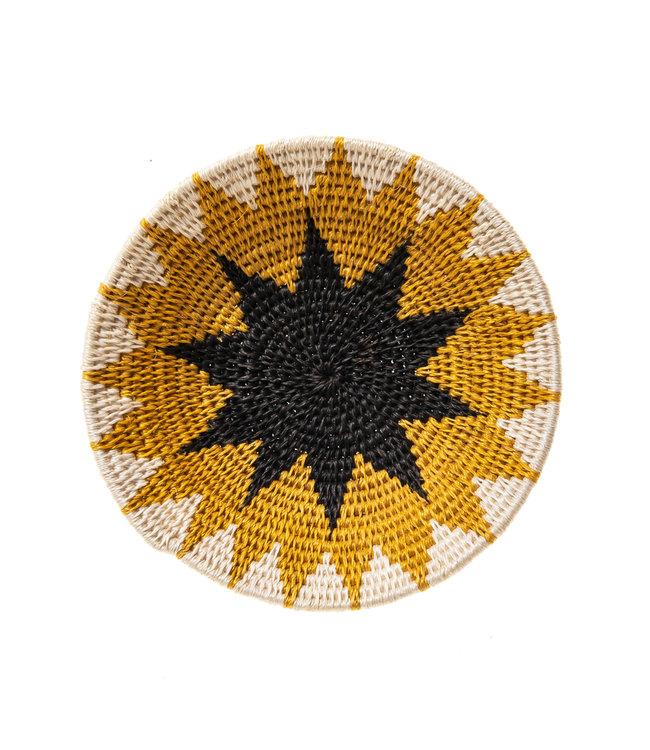 Sisal basket Zienzele earth colors Ø20 cm #565