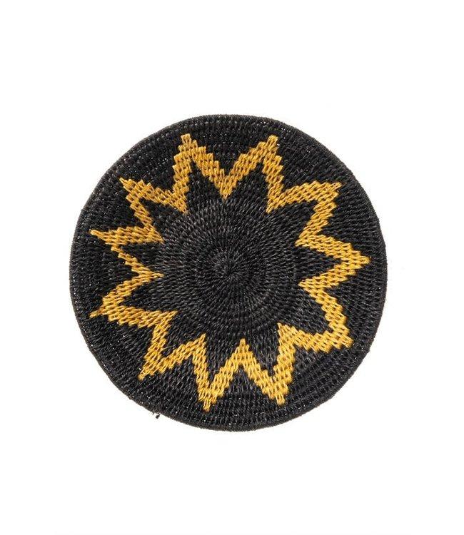 Sisal basket Zienzele earth colors Ø20 cm #548