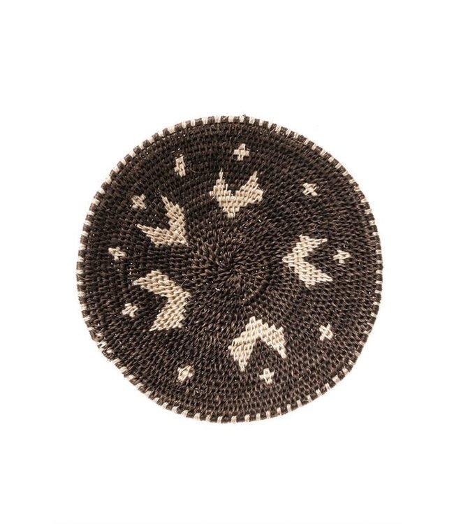 Sisal basket Zienzele black/white Ø20 cm #552