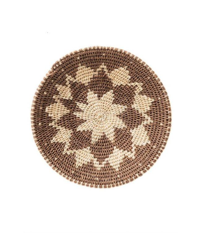 Sisal basket Zienzele earth colors Ø20 cm #554